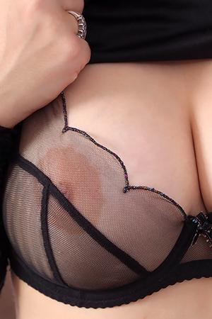 Lotti Rose in 'Sexy Seethru Bra' via Only-Tease