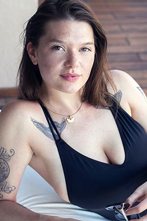 Clio in 'Black Bodysuit' via Suicide Girls